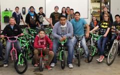Auto tech fixes bikes for tikes