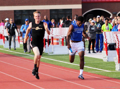 Track teams compete in area today