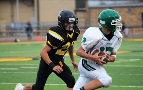 Freshman Indian football takes first district win