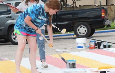 PARKING PAINT: Service project encourages personal space