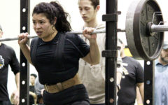 Statebound-- Junior Siria Martinez competes in the squat at the Seminole meet on Jan. 24. Martinez took first place in the region on March 2, qualifying for state competition next week.