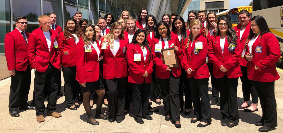 State SkillsUSA-- The chapter took bronze medals and a gold level chapter of excellence award at state on April 7 in Corpus Christi.
