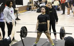 Eye on state-- Deadlifting 330 pounds, senior Siria Martinez takes first in the Big Spring meet in the 181-pound division. Martinez, who took second in state last year, lifted a combined 885 pounds over three events to win on Jan. 11.