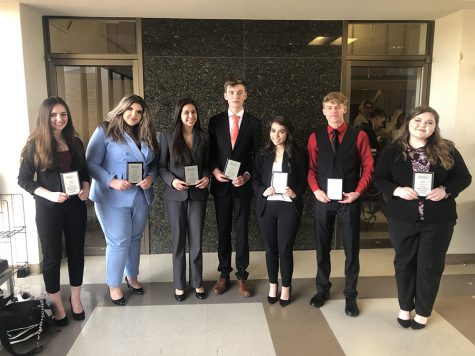 National speech qualifiers-- Cathryn Johnson, Reese Cooper, Dayana Busanes, Michael Fehr, Makayla Randolph, Micah Smith, Payton Carter