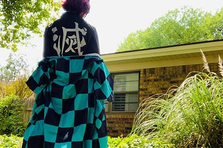 Cosplay--Columnist senior Sydney Gonzales dresses as Tanjiro Kamado from Demon Slayer for a trip to the Permian Basin Comic-con in September.