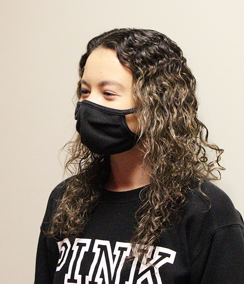 """I feel safe. I don't think the school can do much more to keep us safe. I think the masks are the maximum."" Sydney Loewen Junior"