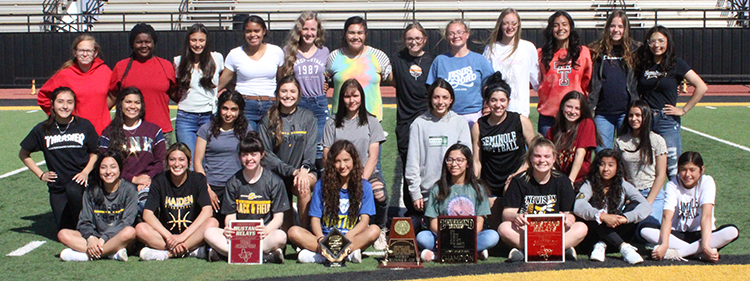 District+runners+up--The+Maiden+track+team+took+second+overall+at+the+district+meet+with+118+points+and+nine+area+qualifiers+in+14+events+on+March+31+and+April+1.