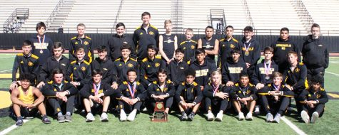 District runner up--The Indian track team accumulated 126 points and 12 area qualifiers at the district meet.